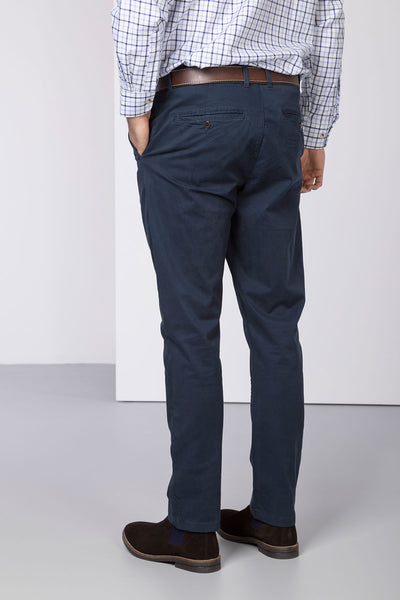 Navy - Rupert Mens Chino Trousers