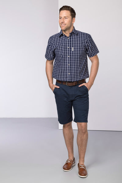 Navy - Rupert Mens Chino Shorts