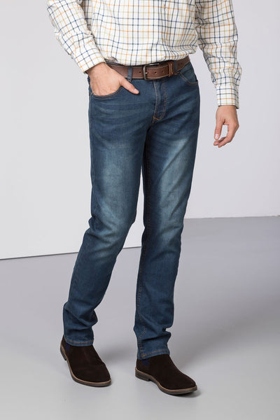 Navy Denim - Mens Rupert Straight Leg Jeans