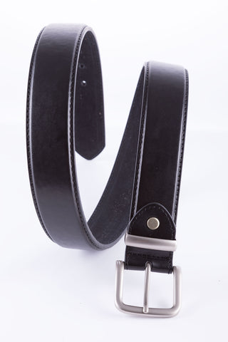 Black - Bonded Leather Belt
