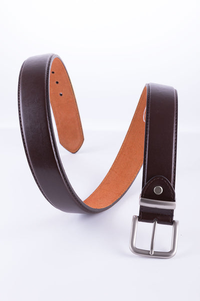 Brown - Bonded Leather Belt