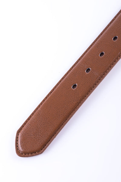 Tan - Bonded Leather Belt