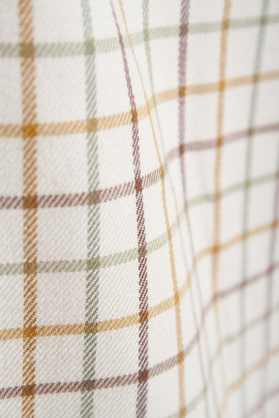 Hovingham Sand -  Rydale Long Sleeved Check shirt