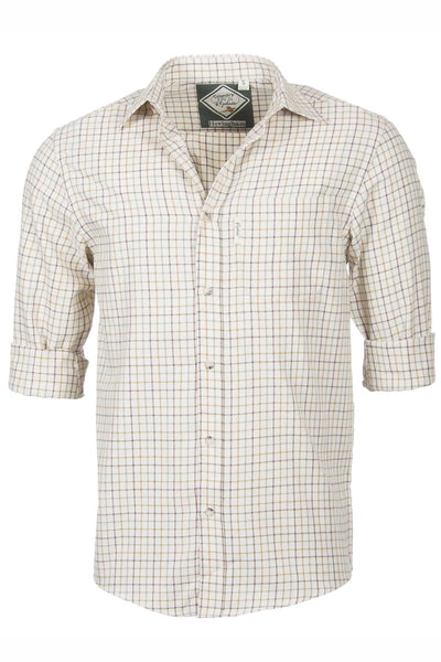 Hovingham Sand - Mens' 100% Cotton Country Check Shirt