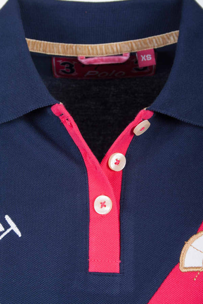Navy - Sash Design Polo Shirt