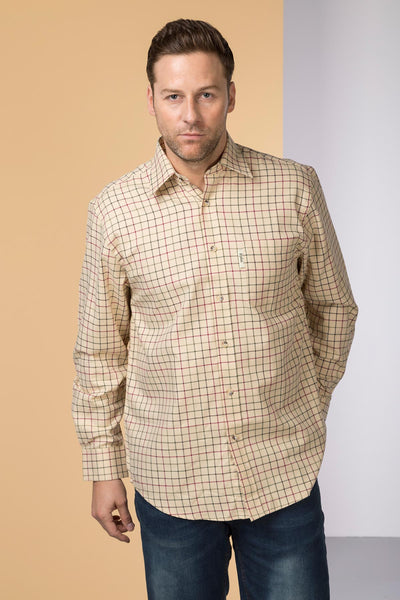 Gransmoor Lovat - Mens 100% Cotton Long Sleeved Shirt