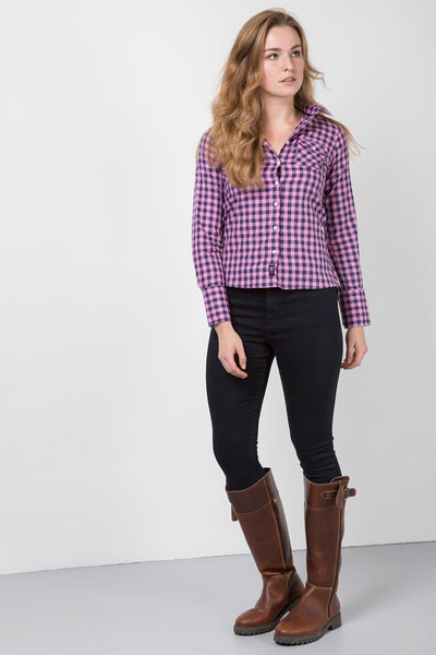 Holly Navy - Ladies Hannah Shirt