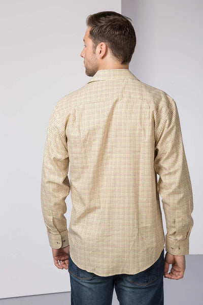 Lisset Gold - Mens 100% Cotton Check Shirt
