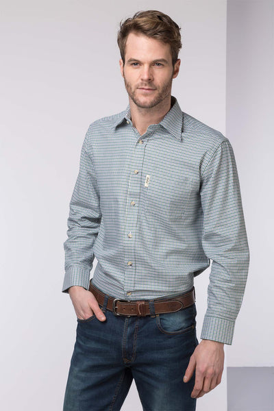 Millington Green - Mens 100% Cotton Long Sleeved Shirt