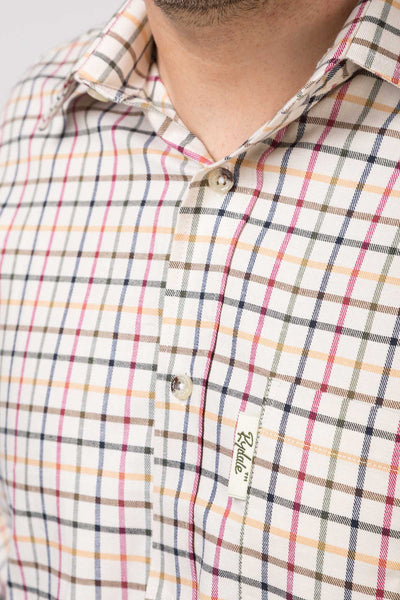 Red Mix - Mens Rydale Cotton Shirts