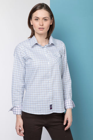 Blue Tattersall - Ladies Hannah Shirt