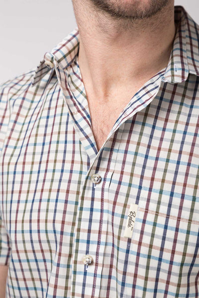 Harvest Light Check - Short Sleeved Country Check Shirts