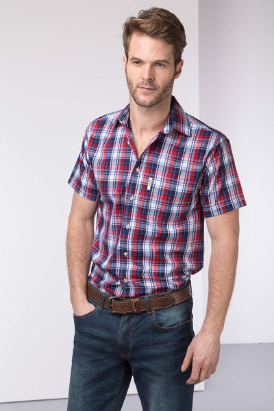 Kilburn Red - Mens Short Sleeve Shirt