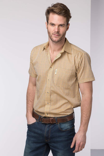 Poacher Gold - Mens Rydale Short Sleeved Shirt