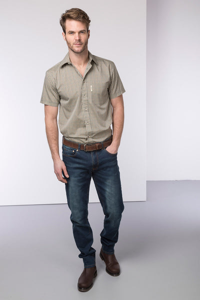 Poacher Olive - Polycotton Short Sleeved Shirt