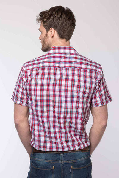 Settle Red - Mens Short Sleeve Shirt
