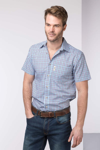 Stokesley Blue - Mens Short Sleeve Shirt