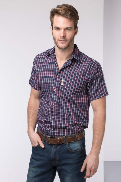 Wykeham Navy - Mens Short Sleeve Shirt