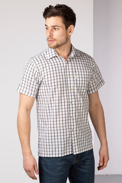 Ebberston Olive - Mens Short Sleeved Shirt