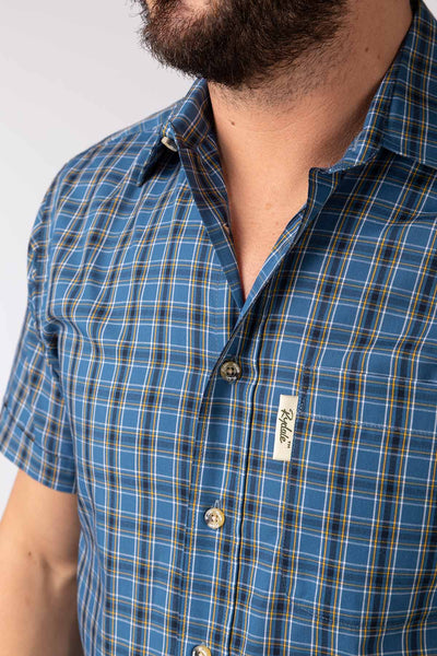 Bainton Blue - Short Sleeved Shirts