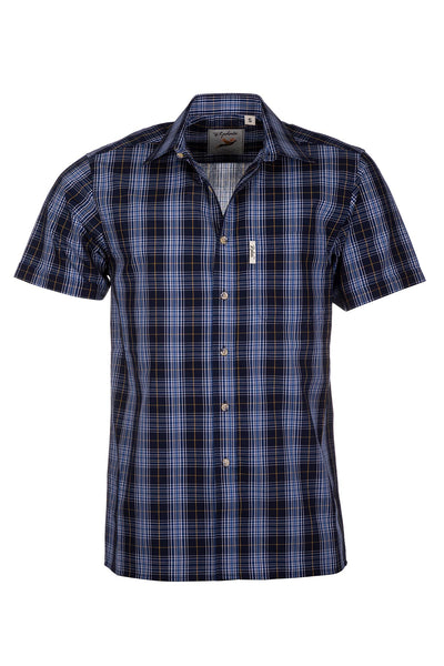 Foston Navy - Short Sleeved Shirts