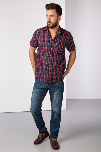 Sherburn Red - Short Sleeved Shirts