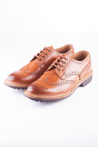 Tan - Skipdale Brogue Shoe
