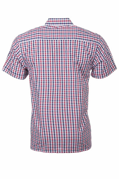 Skipsea Red - Short Sleeved Country Check Shirts