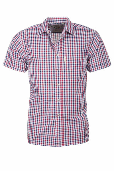Skipsea Red - Mens Easy Care Short Sleeved Shirt