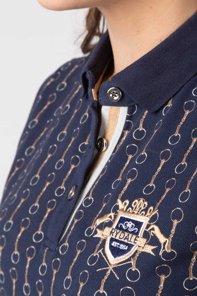 Snaffle Navy - Sleeveless Polo Shirt