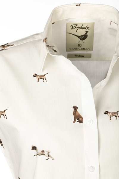 Country Dog White - Sleeveless Wistow Printed Shirt