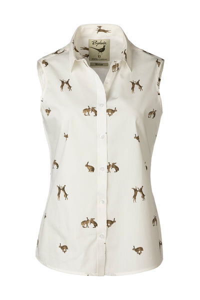 Hare White - Sleeveless Wistow Printed Shirt