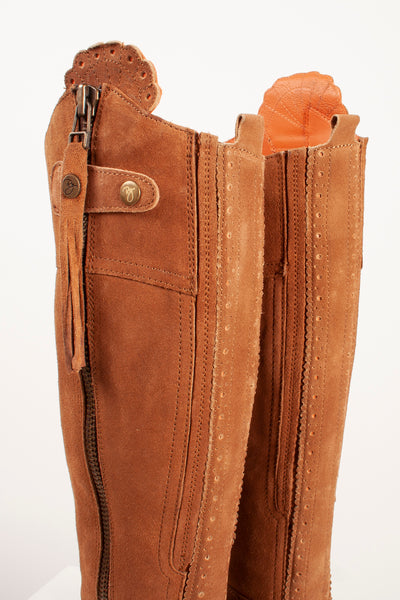 Tan - Suede Riding Boots