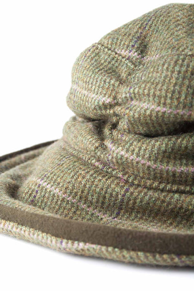 Small Check - Womens Brimmed Soft Tweed Hats