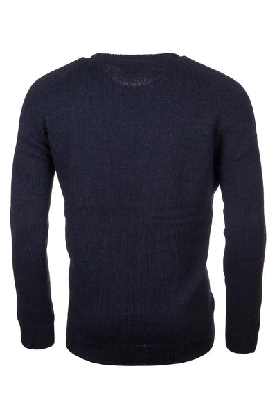 Navy - Smooth Knit Lambswool Sweater