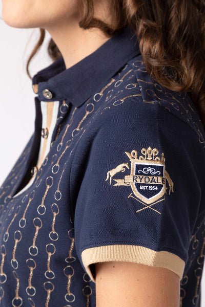 Navy - Snaffle Print Polo Shirt