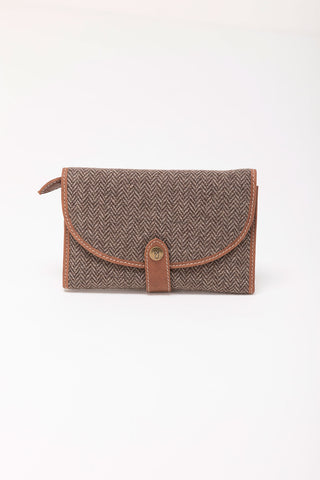 Sophie Tweed Long Saddle Purse