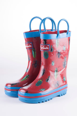 Bugs Red - Splish Splash Junior Wellies