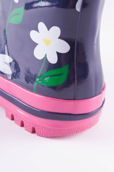 Daisy Navy - Splish Splash Junior Wellies