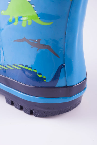 Dinosaur Blue - Splish Splash Junior Wellies
