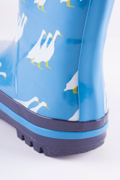 Duckie Blue - Splish Splash Junior Wellies