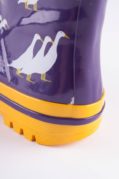 Duckie Purple - Splish Splash Junior Wellies