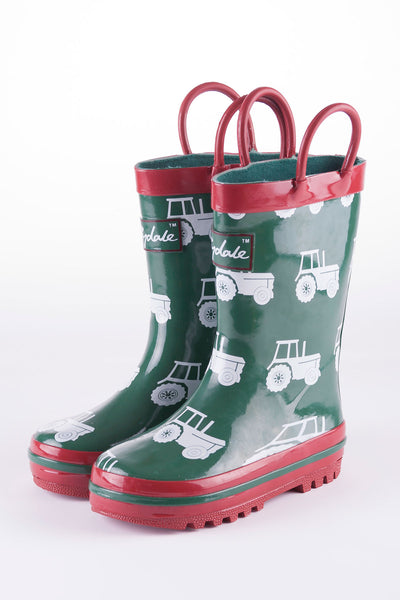 Tractor Green - Splish Splash Junior Wellies