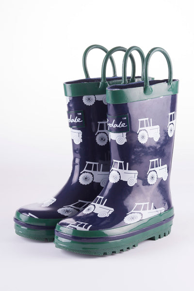 Tractor Navy - Splish Splash Junior Wellies