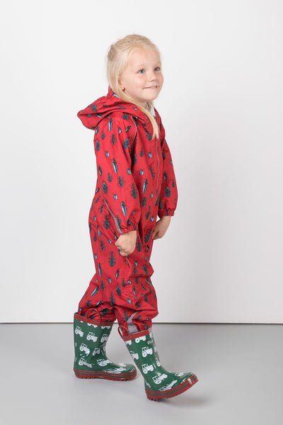 Bugs Red - Junior Patterned Splash Suit