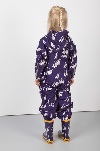 Duckie Purple - Junior Patterned Splash Suit