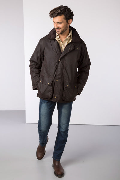 Brown - Stamford Antique Wax Jacket
