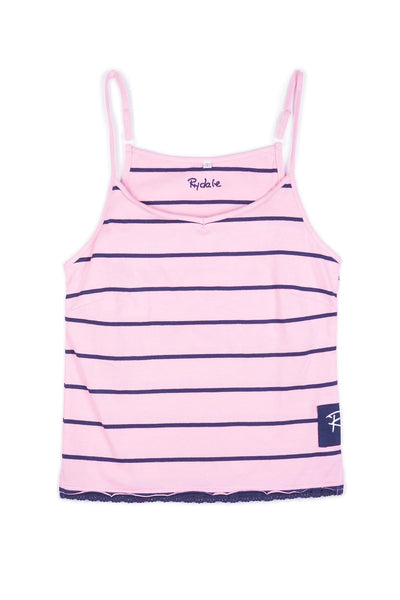Pink/Navy - Ladies Strappy Top