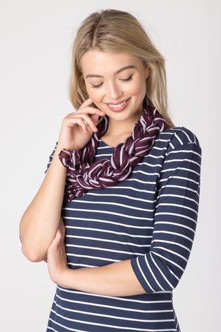 Striped Floaty Scarf