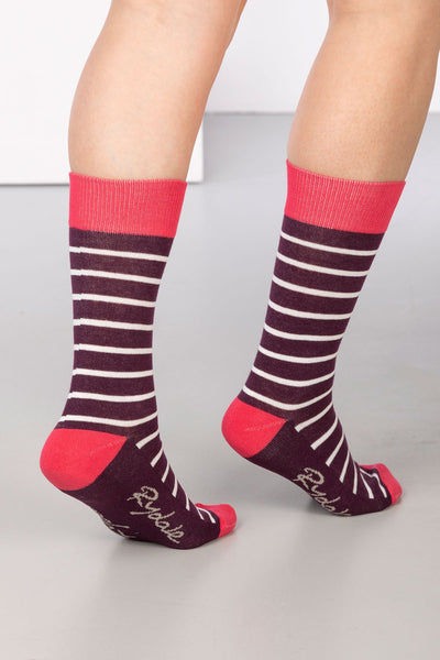 Berry - Striped Ankle Socks